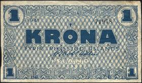 Island / Iceland P.22o 1 Krone 1941 (3)