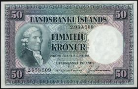 Island / Iceland P.34a 50 Kronen L. 1928 (1)
