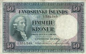 Island / Iceland P.34a 50 Kronen L. 1928 (3)