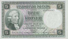 Island / Iceland P.32a 5 Kronen 1928 (1)
