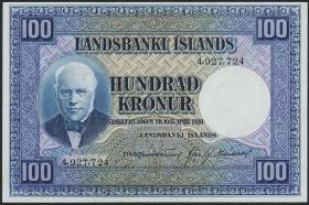 Island / Iceland P.35a 100 Kronen L. 1928 (2-1)