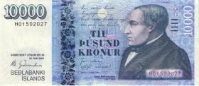 Island / Iceland P.61 10000 Kronen 2001 (2013) (1)