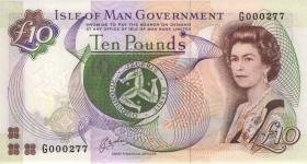 Insel Man / Isle of Man P.42 10 Pounds (1983) (1) low number