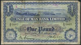 Insel Man / Isle of Man P.06b 1 Pound 1940 (5) Bank Limited