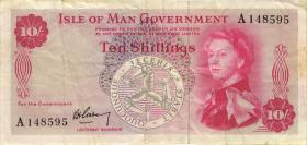 Insel Man / Isle of Man P.24a 10 Shilings (1961) (3)