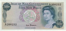 Insel Man / Isle of Man P.28a 50 New Pence (1979) (1)