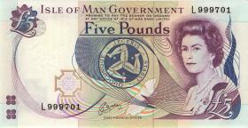Insel Man / Isle of Man P.41b 5 Pounds (1983) (1) high number