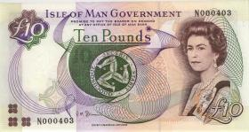 Insel Man / Isle of Man P.44b 10 Pounds (1998) (1) low number