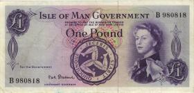 Insel Man / Isle of Man P.25b 1 Pound (1961) (3)