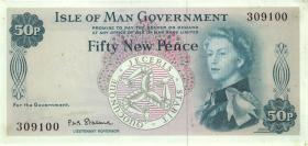 Insel Man / Isle of Man P.27 50 New Pence (1969) (1/1-)