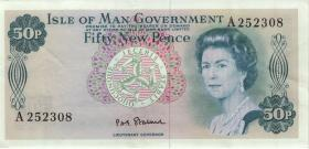Insel Man / Isle of Man P.28a 50 New Pence (1979) (2)