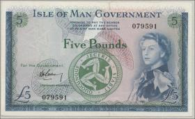Insel Man / Isle of Man P.26a 5 Pounds (1961) (3+)
