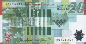 Israel P.63 20 Neue Shekel 2008 Polymer (1)