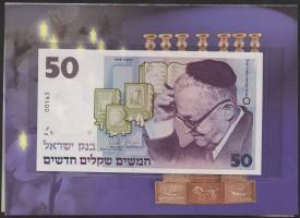 Israel P.58 50 Neue Shekel 1998 (1) im Folder