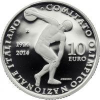 Italien 10 Euro 2014 Nationales Olympisches Komitee