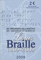 Italien 2 Euro 2009 Braille, Folder