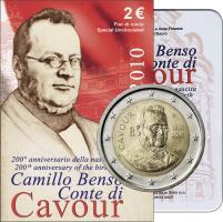 Italien 2 Euro 2010 Cavour, Folder