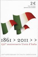 Italien 2 Euro 2011 Einheit Italiens, Folder