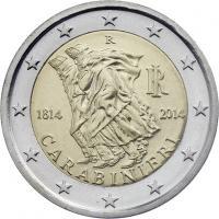 Italien 2 Euro 2014 Carabinieri