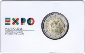Italien 2 Euro 2015 EXPO Milano in Coincard