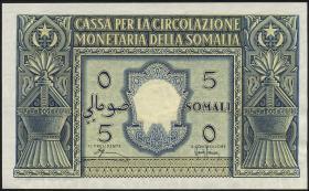 Ital.-Somaliland/Ital. Somaliland P.12 5 Somali 1950 (1)