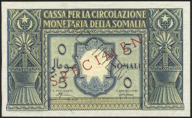 Ital.-Somaliland/Ital. Somaliland P.12s 5 Somali 1950 Specimen (1)