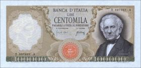 Italien / Italy P.100a 100.000 Lire 1967 (1)