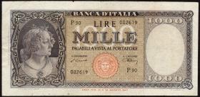 Italien / Italy P.083 1000 Lire 1947 (3)