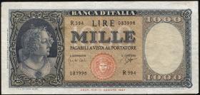 Italien / Italy P.088d 1000 Lire 1961 (3)