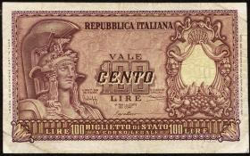Italien / Italy P.092a 100 Lire 1951 (3)