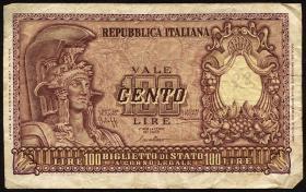 Italien / Italy P.092a 100 Lire 1951 (4)