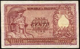 Italien / Italy P.092b 100 Lire 1951 (3)