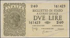 Italien / Italy P.030b 2 Lire 1944 (1)