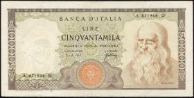 Italien / Italy P.099a 50000 Lire 1967 (3+)