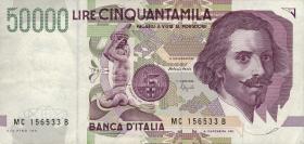 Italien / Italy P.116b 50000 Lire 1992 (2)