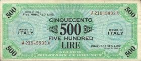 Italien / Italy P.M22a 500 Lire 1943 A (3/2)