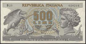 Italien / Italy P.093 500 Lire 1966 (1)