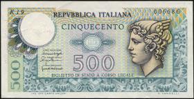 Italien / Italy P.095 500 Lire 1976 (2)