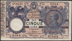 Italien / Italy P.023f 5 Lire 1904 (1923) (3/2)
