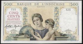 Franz. Indochina / French Indochina P.057 500 Piaster (1939-) (3+)