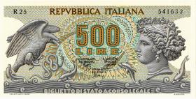 Italien / Italy P.093 500 Lire 1970 (1)