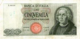 Italien / Italy P.098a 5.000 Lire 1964 (4)