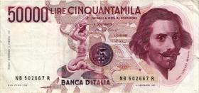 Italien / Italy P.113a 50.000 Lire 1984 (3)