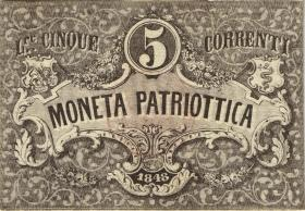 Italien / Italy P.S188 5 Lire 1848 Venetian Rep. (3)