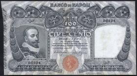 Italien / Italy P.S857 100 Lire 1915 Banco di Napoli (3+)
