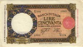 Italien / Italy P.054 50 Lire 1940 (2)