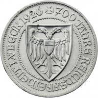 J.323 • 3 Reichsmark Lübeck 1926