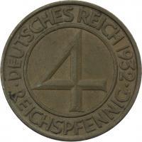 J.315 • 4 Reichspfennig 1932 D