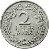 J.320 • 2 Reichsmark 1925 D