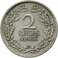 J.320 • 2 Reichsmark 1926 D